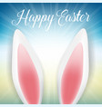 easter bunny ears background vector image vector image