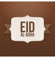 Eid al-Adha festive paper Badge vector image