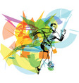 fitness sports runner man jogging vector image vector image