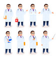 flat doctor male character young physician vector image