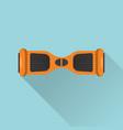 flat style gyroscope icon vector image