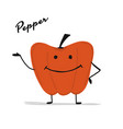 funny smiling paprika character for your design vector image vector image