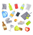 garbage waste items collection vector image