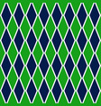 green and blue argyle harlequin seamless pattern vector image vector image