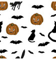 happy halloween pattern vector image vector image