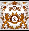 heraldic lions vector image