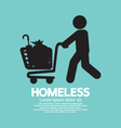 Homeless With Possessions Cart Symbol Illus vector image