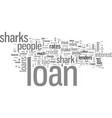 how to avoid loan sharks vector image vector image