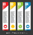 infographic with icon set vector image vector image