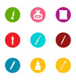 ink inscription icons set flat style vector image vector image