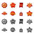 isolated object of emblem and badge symbol vector image vector image