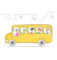 kids in school bus vector image vector image