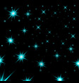 light blue stars black night sky background vector image