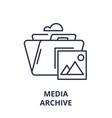 media archive line icon concept media archive vector image vector image
