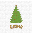 merry christmas tree cold lettering holiday vector image