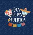 mexican holiday dia de los muertos day dead vector image vector image