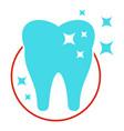 molar icon flat style vector image vector image