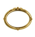 oval classic golden picture baroque frame