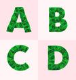 polygonal font vector image vector image