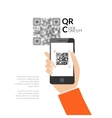 qr code scanning with mobile phone capture vector image vector image
