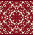 red damask seamless tiled motif pattern vector image