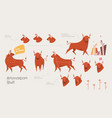 reindeer cartoon locomotion vector image
