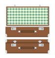 retro suitcase for travel vector image vector image