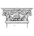 roman-corinthian pilaster capital weigh vintage vector image vector image