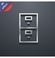 Safe icon symbol 3D style Trendy modern design vector image vector image