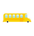 school bus cartoon style transport on white vector image vector image