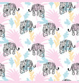 seamless pattern with roaring tiger in jungle vector image vector image