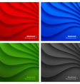set colorful wavy backgrounds vector image vector image