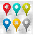 set mapping pins icon vector image