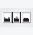 set of cityscapes vector image vector image