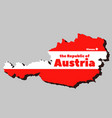 silhouette austria territory vector image