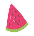 slice watermelon fruit juicy isolated icon design vector image