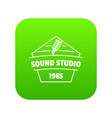 sound studio icon green vector image