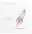 space rocket digitally drawn low poly triangle vector image vector image