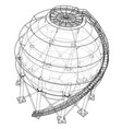 spherical gas tank outline vector image