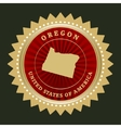 Star label Oregon vector image vector image