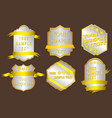 stylish gold badges vector image vector image