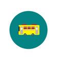 stylish icon in color circle retro bus vector image vector image