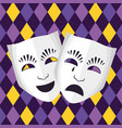 theatrical mask icon vector image