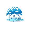 Three House Three mountain Logo vector image vector image