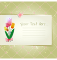 Tulip abstract old paper invitation vector image vector image