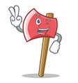 two finger axe character cartoon style vector image