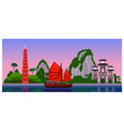 welcome to vietnam evening landscape vector image vector image