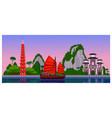 welcome to vietnam evening landscape vector image