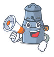 with megaphone milk can character cartoon vector image vector image