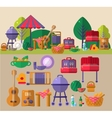 Barbeque Outdoors Object Set vector image